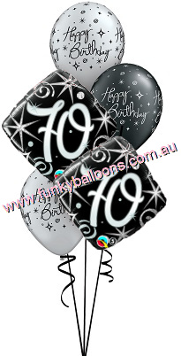 70th Elegant Sparkles Swirls Bouquet